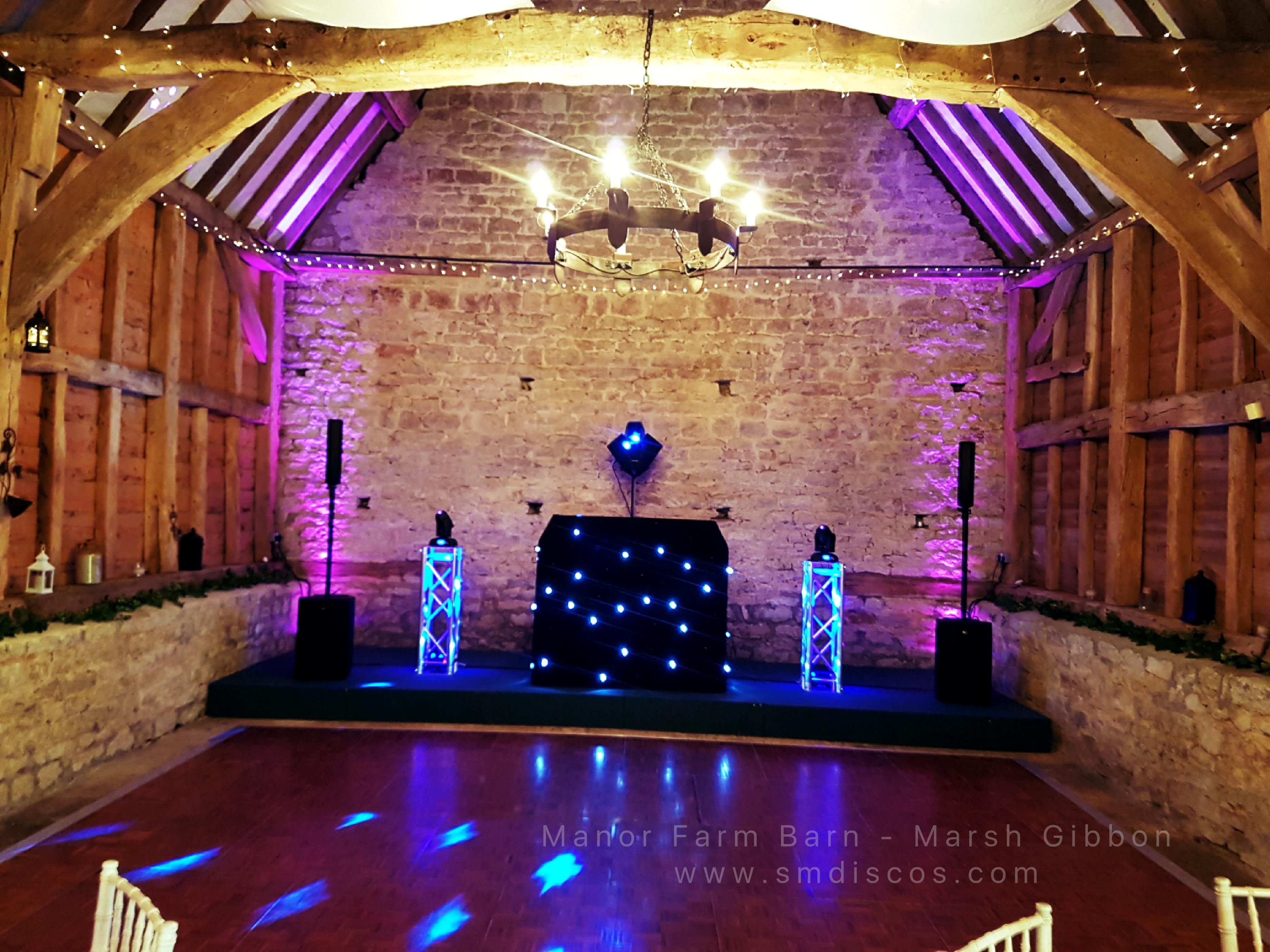 wedding dj manor farm barn Bicester