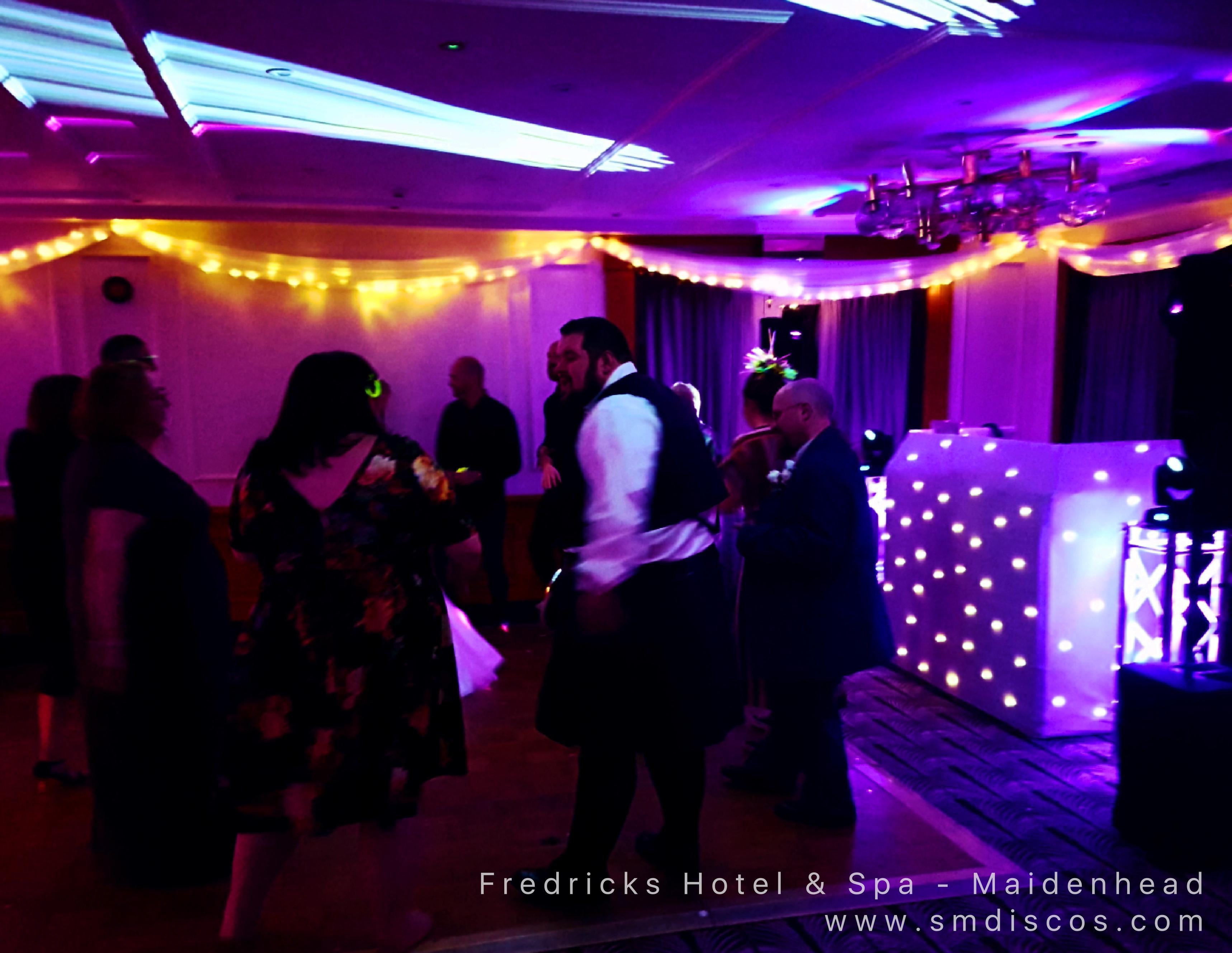 Wedding dancefloor Fredricks Hotel