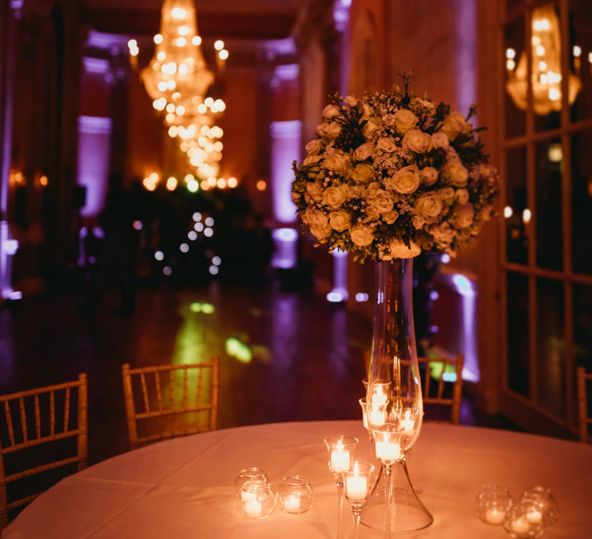 Uplighting at Danesfield House Wedding