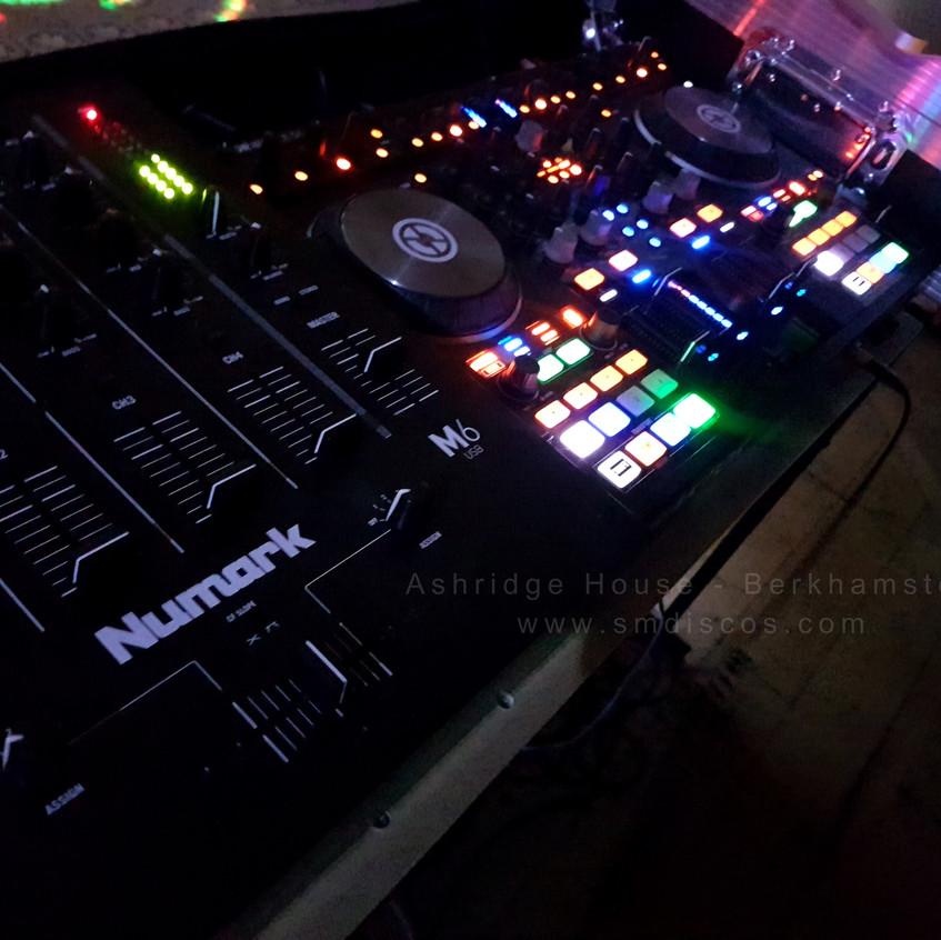 dj for ashridge house in berkhamsted decks and mixer