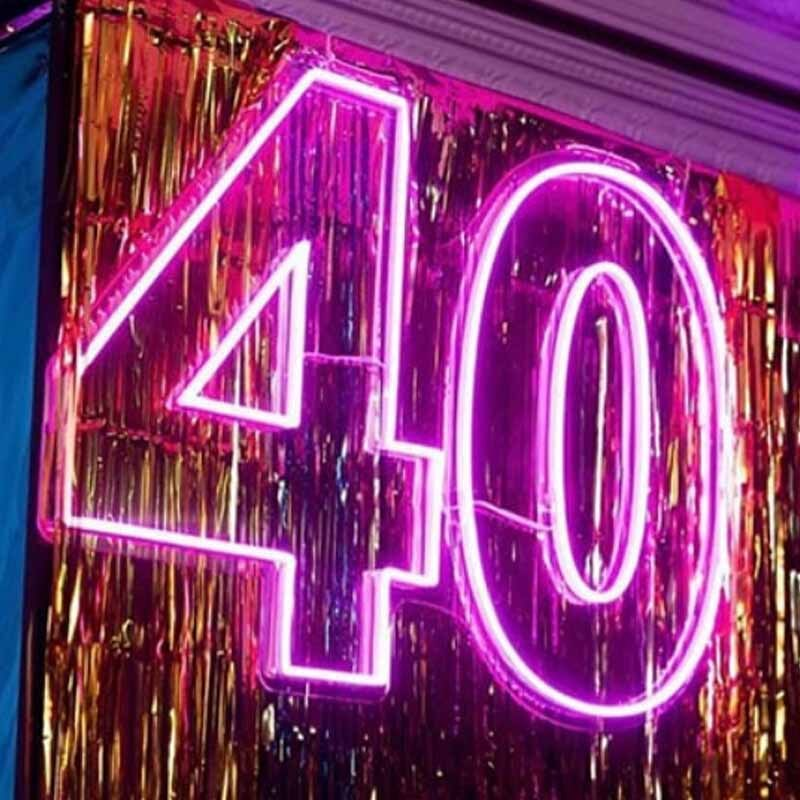 40th party neon