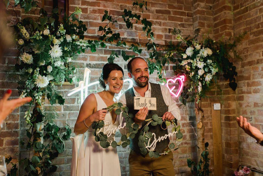 wedding neon name sign