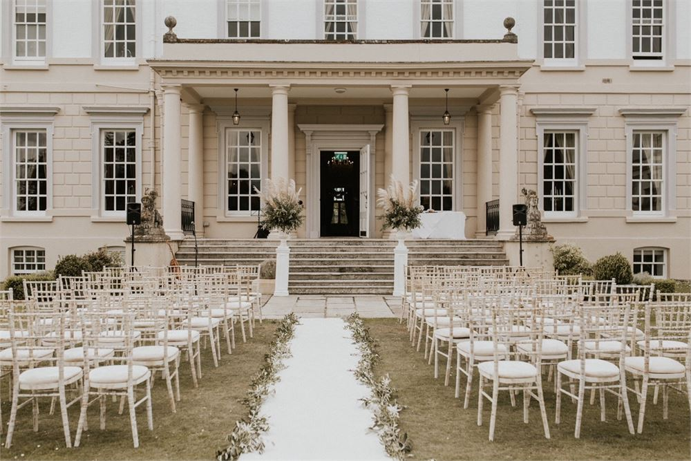 Buxted Park Hotel wedding set up