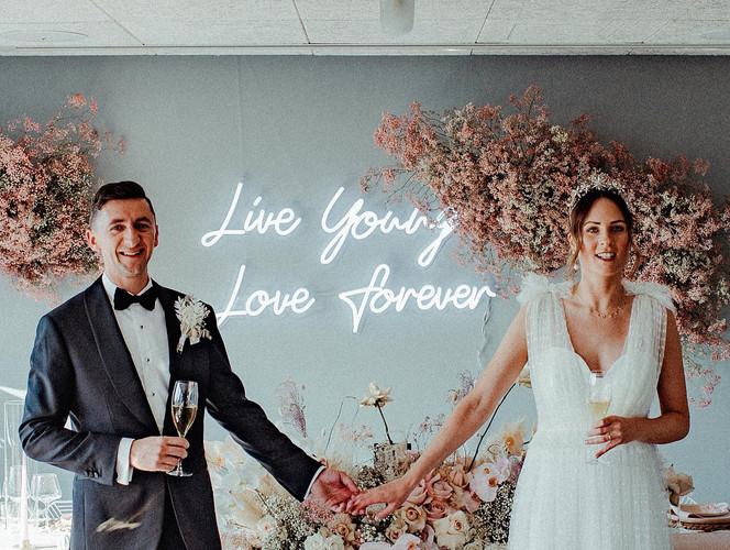 love forever neon wedding sign