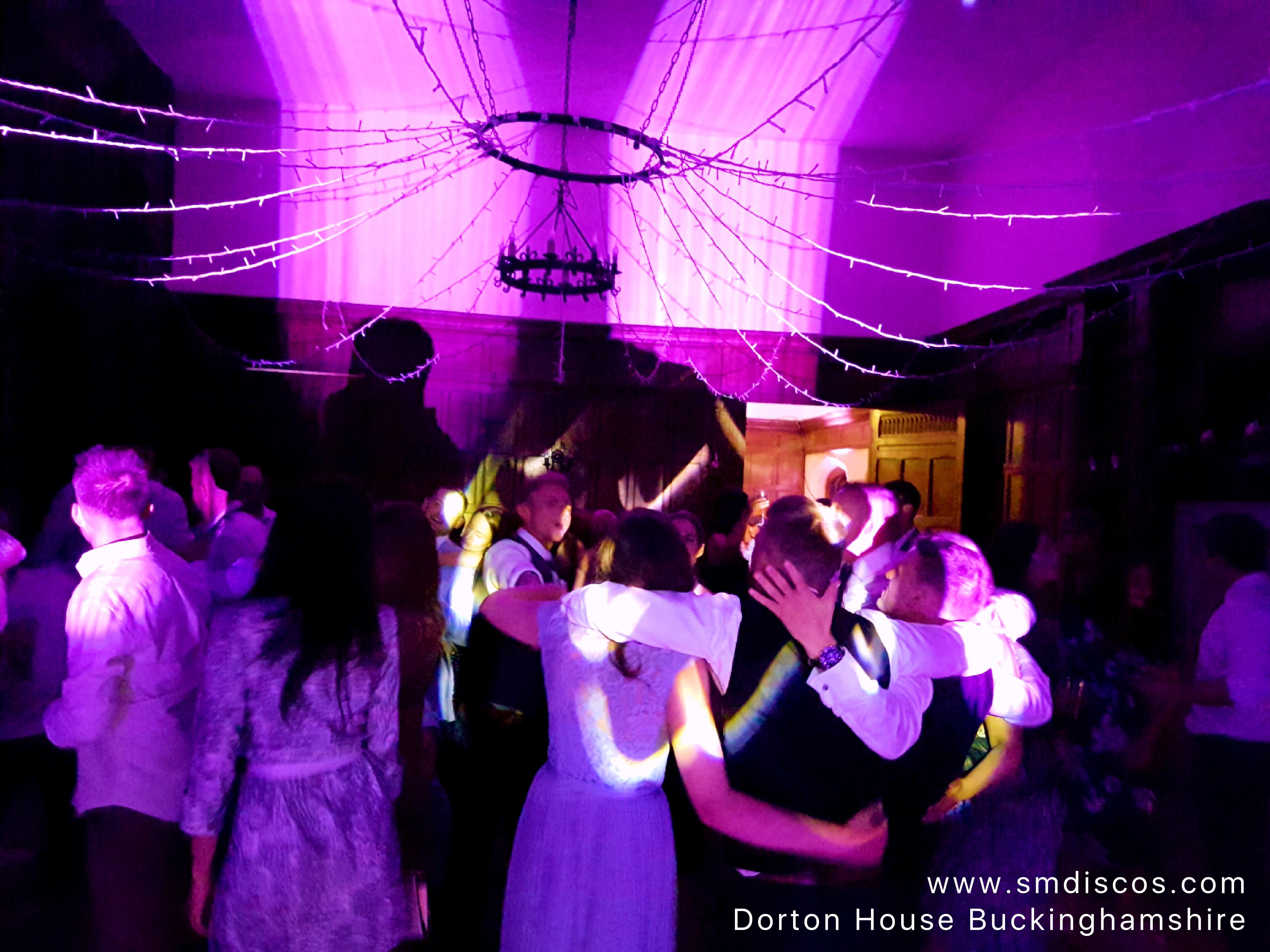dancefloor at Dorton House wedding