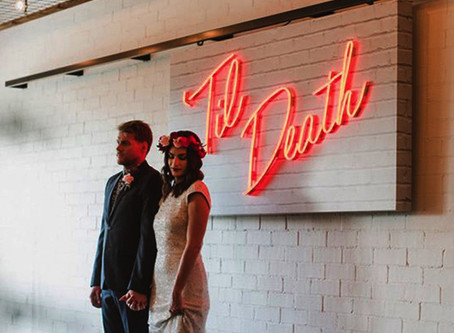 Light Up Your Day With Neon Wedding Signs