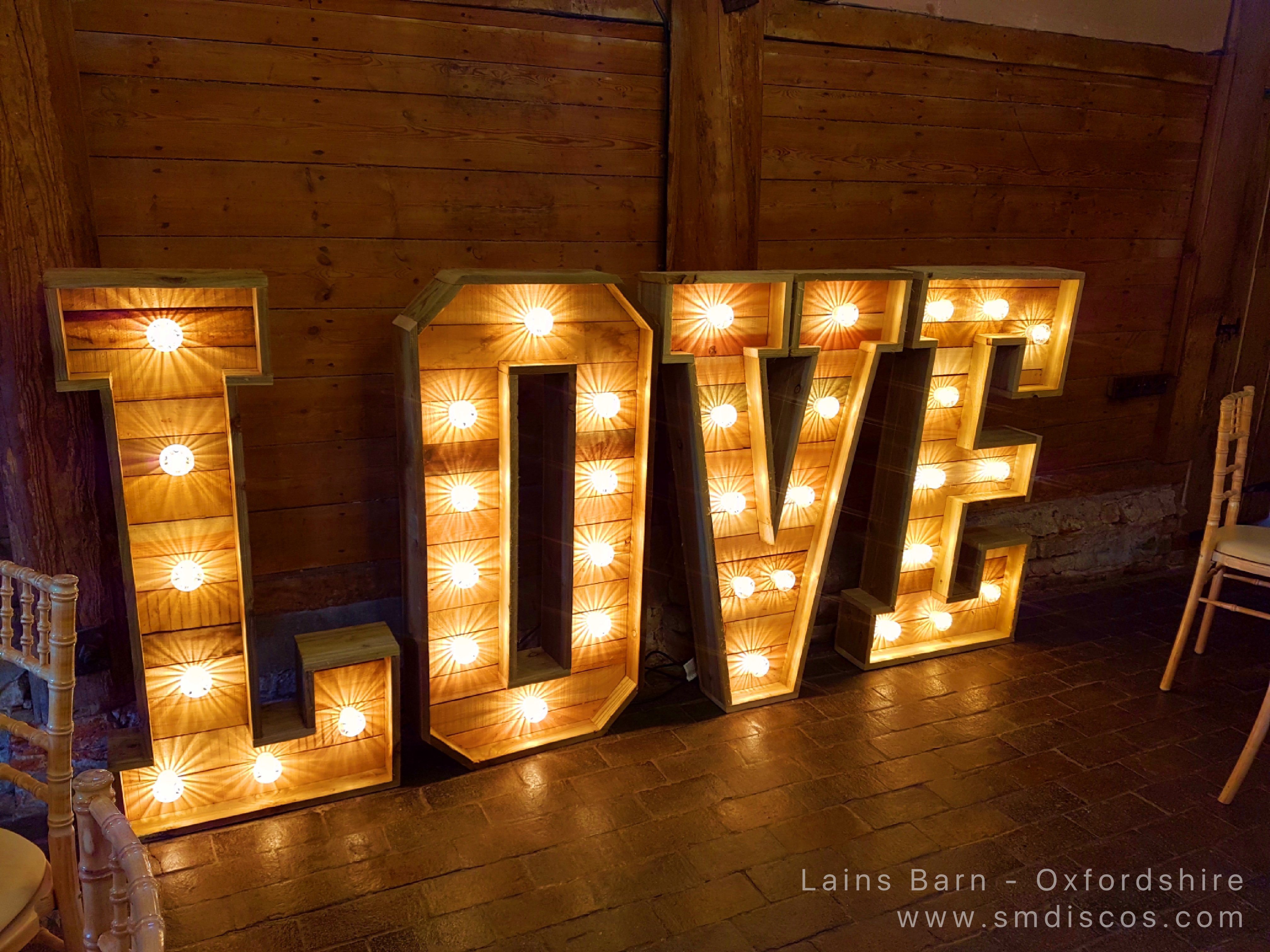 Love letter hire Lains Barn