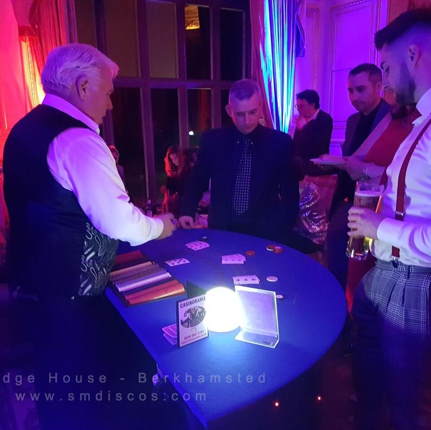 casino table at ashridge house
