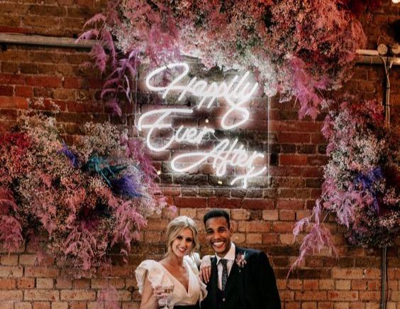 neon wedding sign Berkshire