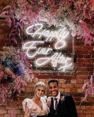 neon wedding sign burford