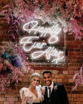 neon wedding sign burford