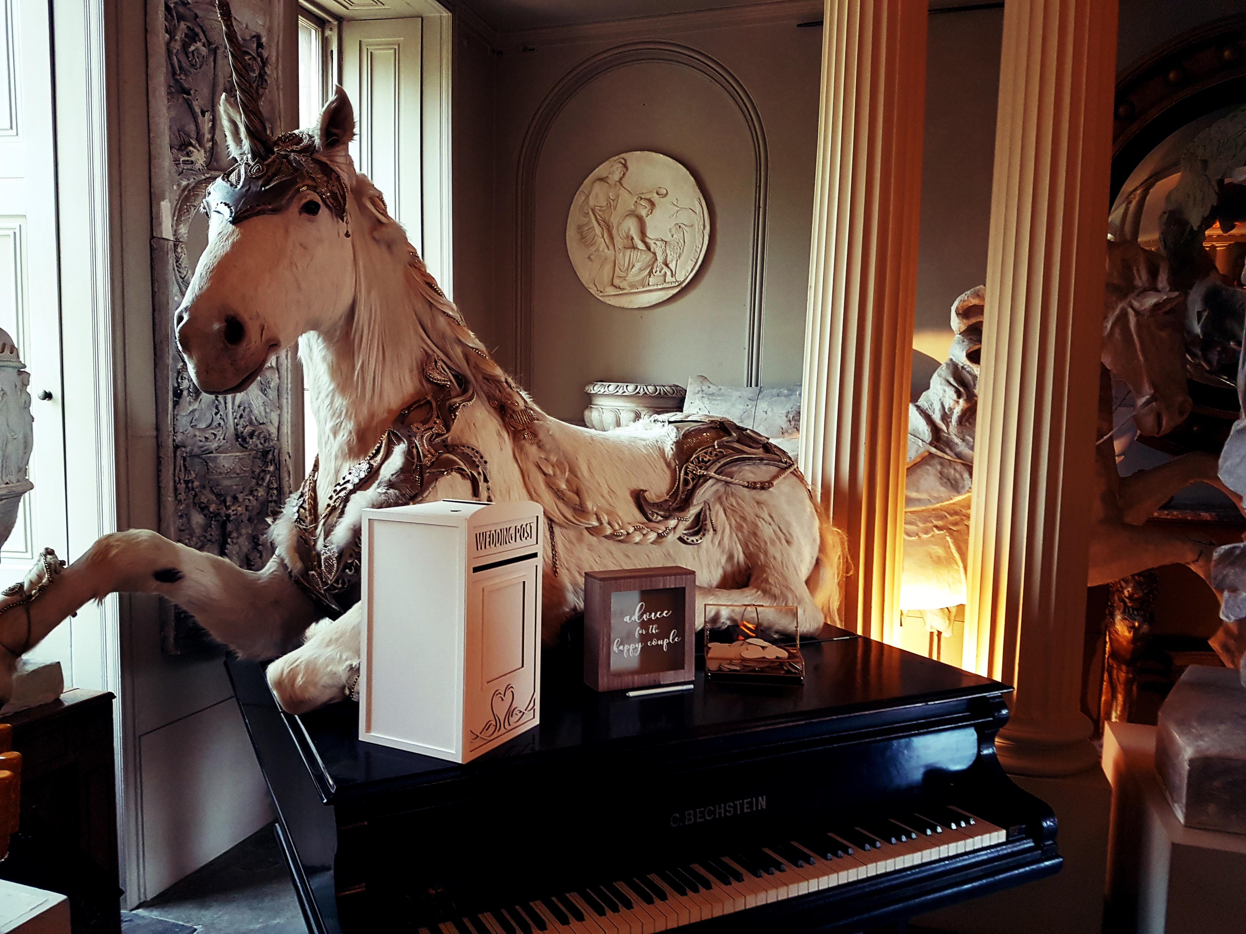 unicorn at Aynhoe Park Oxfordshire