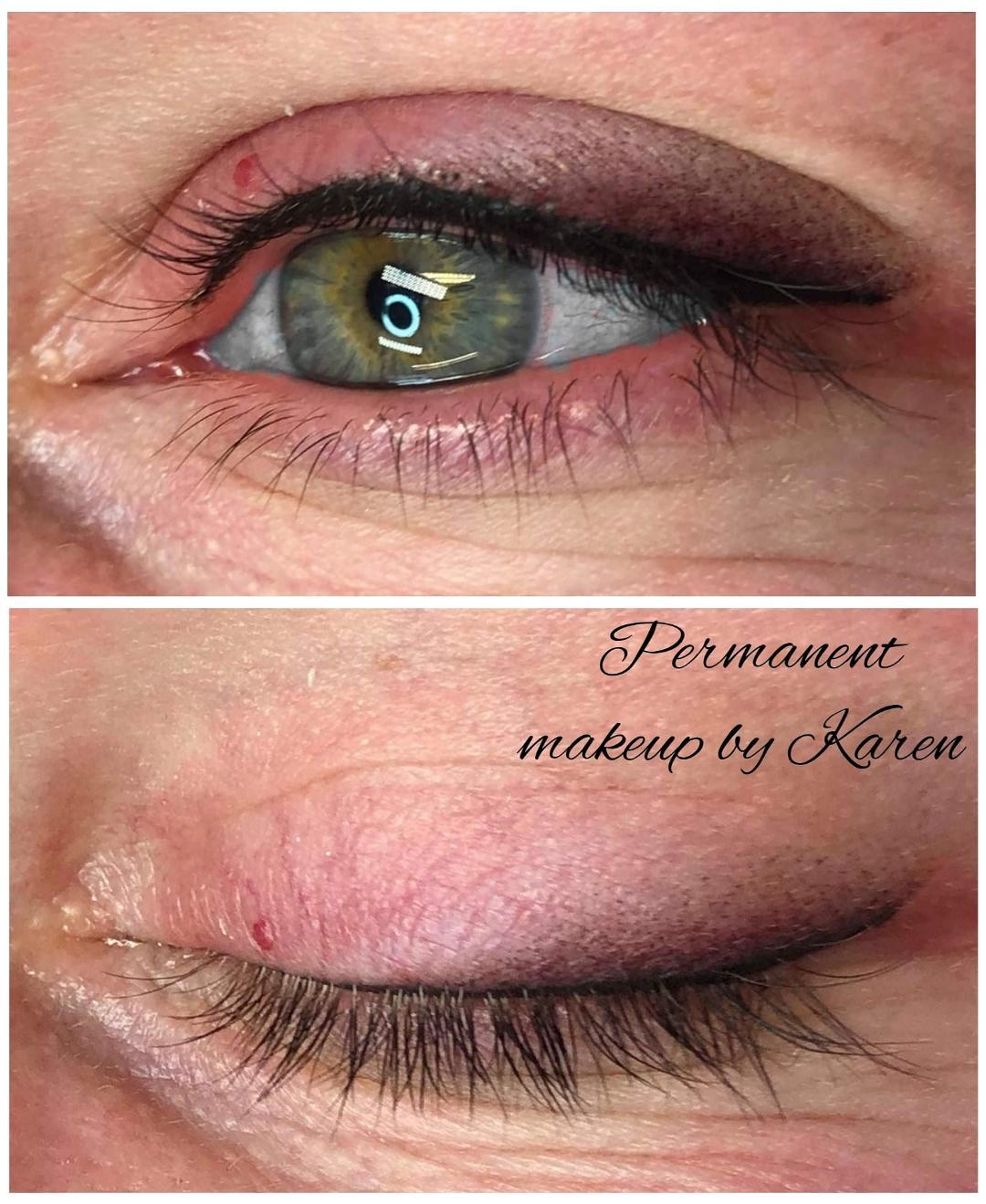 Kestopigmentointi eyeliner häivytyksellä