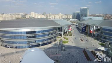 Вид из павильона Республики Казахстан ASTANA EXPO 2017