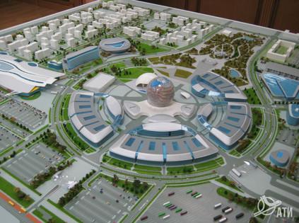 Макет территории Всемирной выставки ASTANA EXPO 2017
