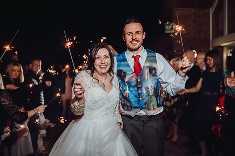 Sparkler Wedding Essex photos