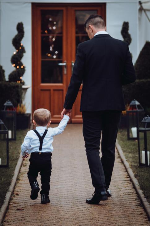 dad and son wedding photo