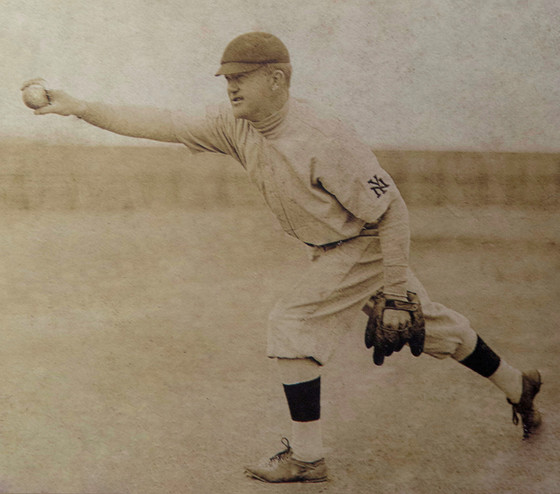 Luther Taylor was 16-9 in 1905, when he helped pitch the Giants into the World Series. (Deaf Cultural Center)