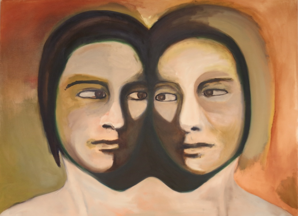 Faces with Golden Rays 92 x 125cm Oil on Canvas 2015