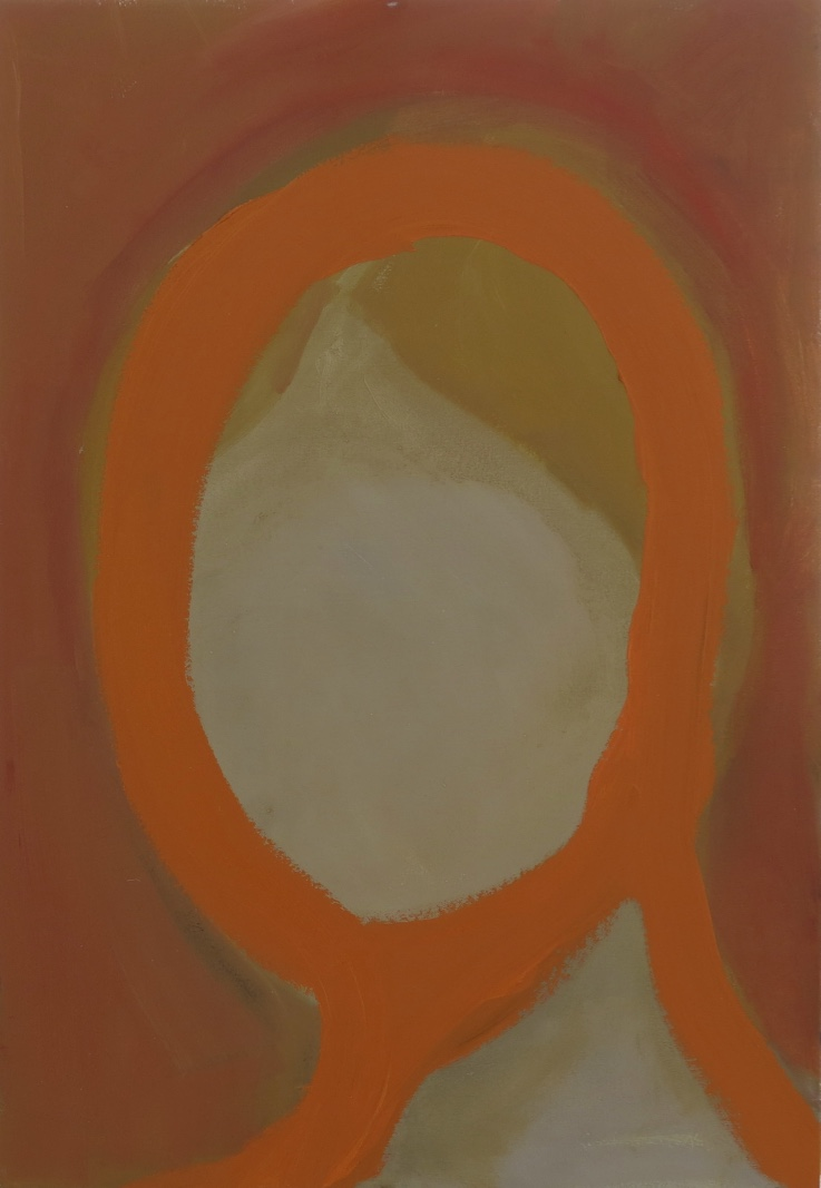 Untitled Orange Oil on Canvas 66 x 46cm 2016