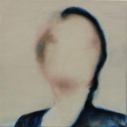(imposible)woman 1 30x30x2cm Oil on Linen 2014