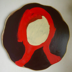 Redhead Oil on found object 2015