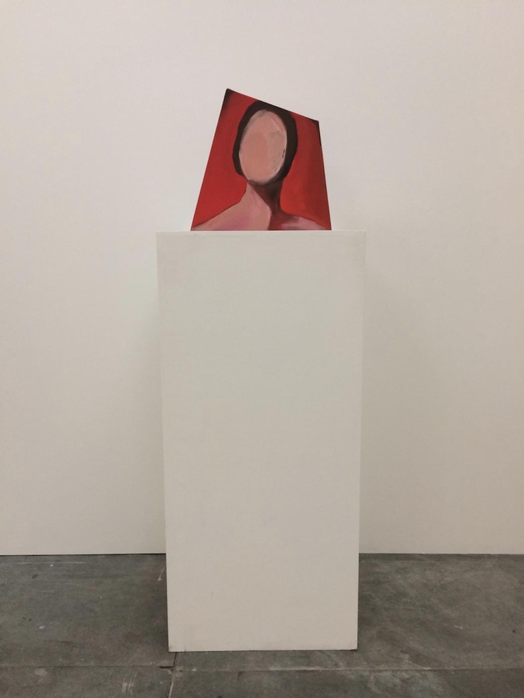 Head of woman (on plinth) 39.5x39.5cm Oil on Canvas 2016
