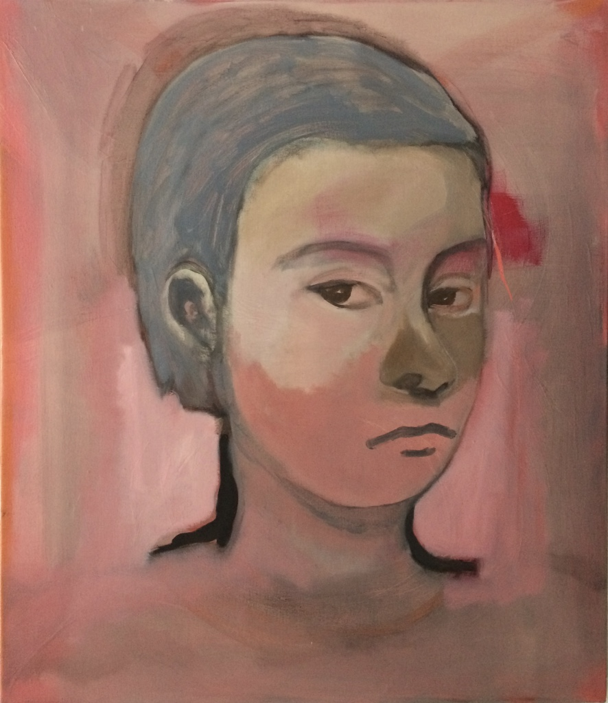 Pink YW 76 x66cm Oil on Linen 2016