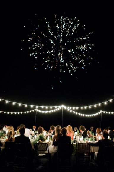 Ending dinner with fireworks