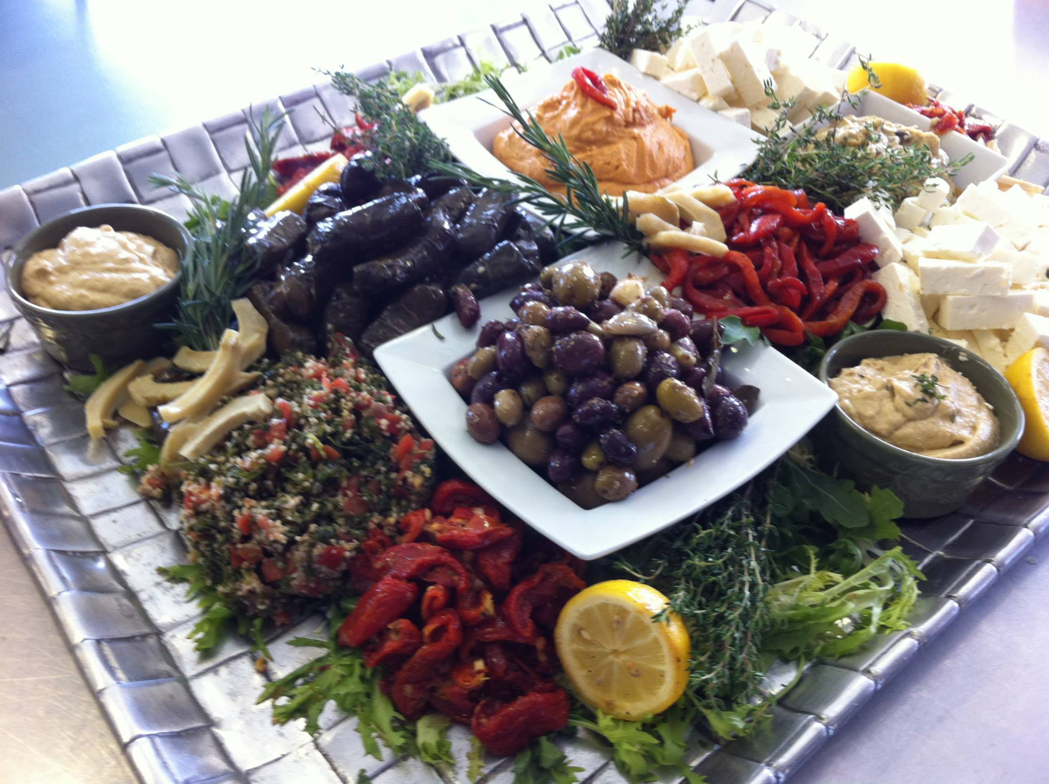 tshcatering, mediterranean display