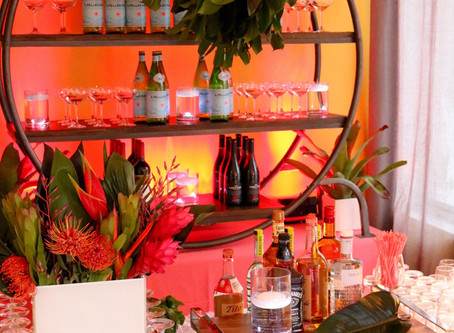 Tropical Beauty for Our Industry Friends, A Fun Filled Night of Delicious Food and Design