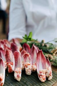 Lobster Salad on Endive Leaves