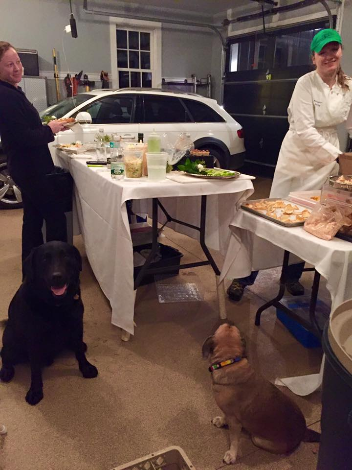 Anna and Jenelle cook in the garage, and dog sit, too!