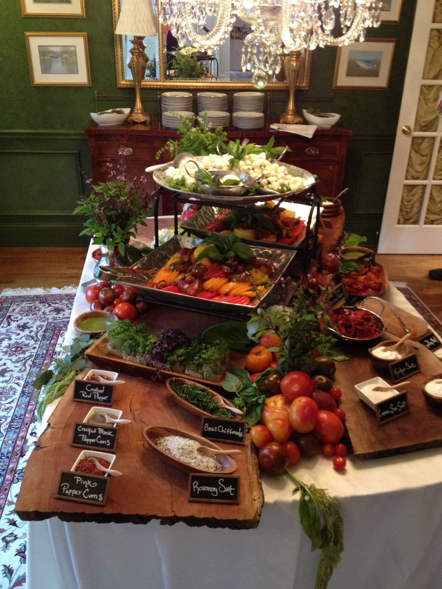 tshcatering, heirloom tomato bar