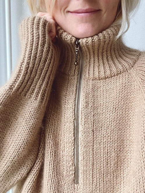 Zipper Sweater- PetiteKnit