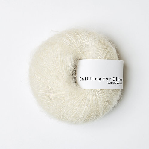 Off White- Soft Silk Mohair