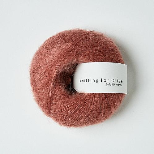 Plum Rose / Blommerosa- Soft Silk Mohair