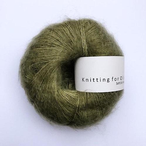 Dusty Olive / Støvet Oliven- Soft Silk Mohair