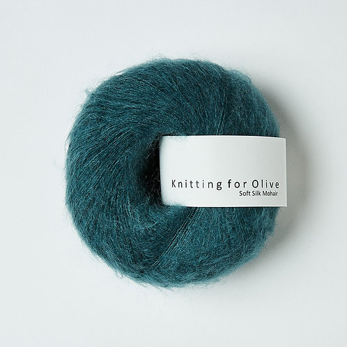 Petroleum Green / Petroleumsgrøn- Soft Silk Mohair
