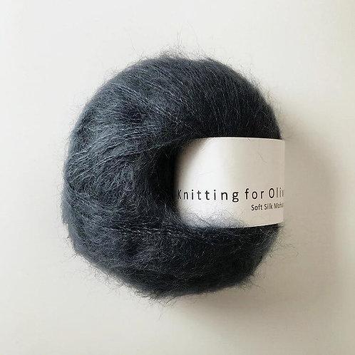 Deep Petroleum Blue - Soft Silk Mohair