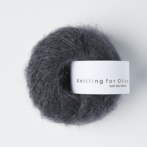 Slate Gray / Skiffergrå - Soft Silk Mohair