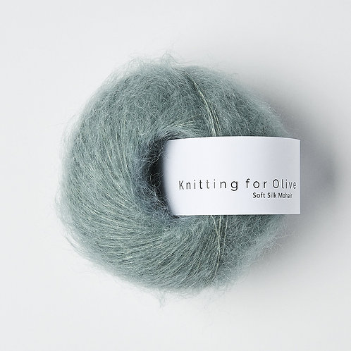 Dusty Aqua- Soft Silk Mohair