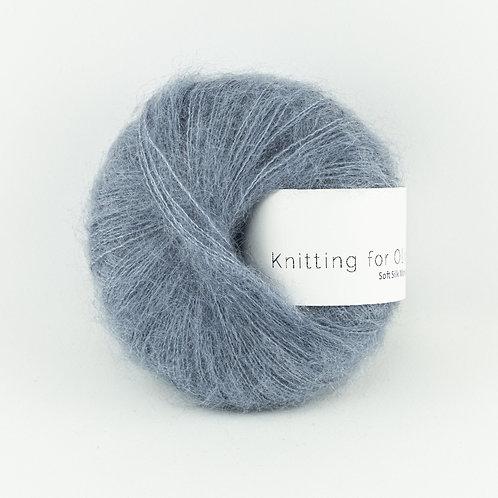 Dusty Dove Blue / Støvet Dueblå- Soft Silk Mohair