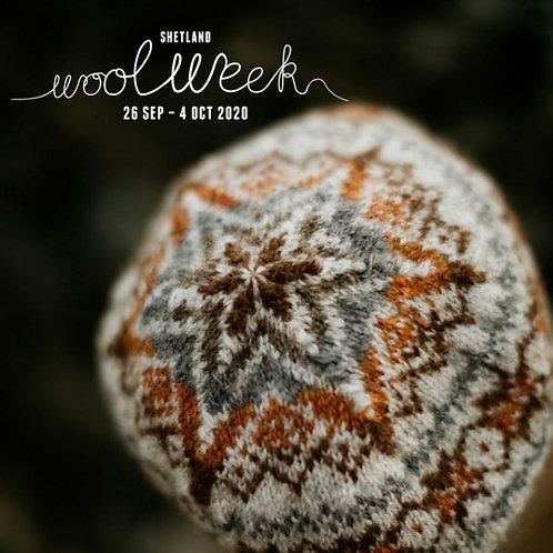 Shetland Wool Week mössa natur 2020