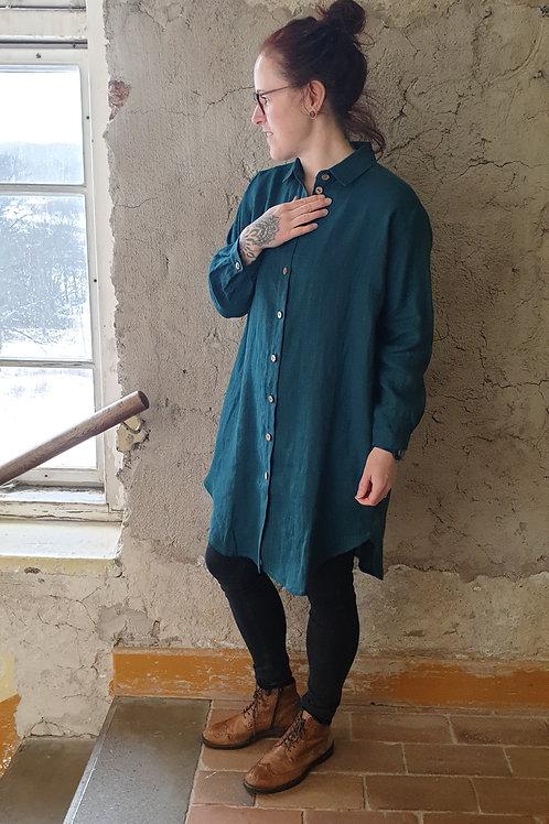 Skjortklänning Turkosgrön