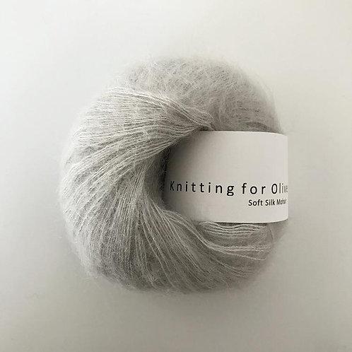 Pearl Gray - Soft Silk Mohair