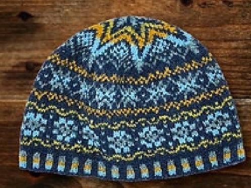 Shetland wool week -  20 Blå/gul