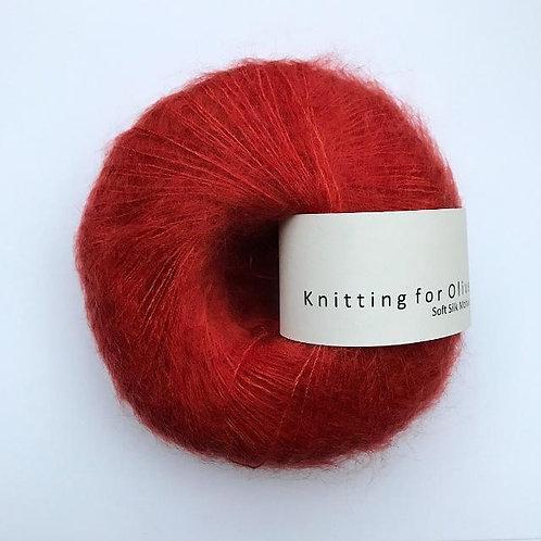 Pomegranate / Granatæble- Soft Silk Mohair