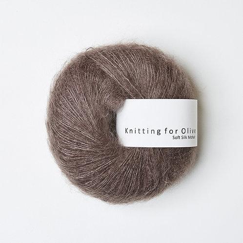 Soft Silk Mohair - Blomme-Ler / Plum Clay