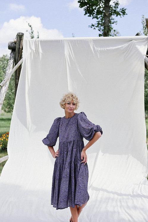 Flora tana lawn puffärm klänning